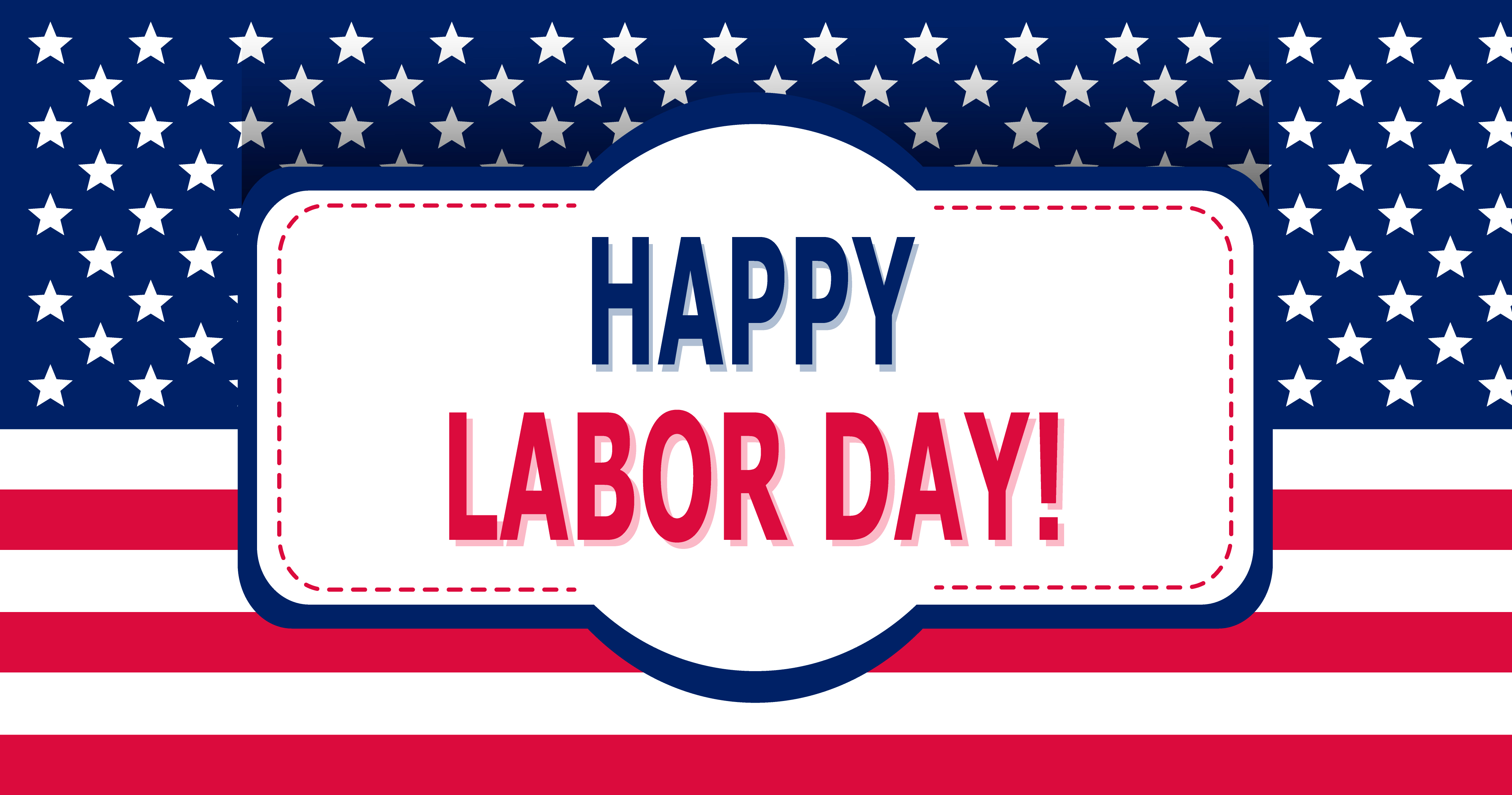 Happy Labor Day. Vector illustration. American flag. USA. Vintage style. Frame